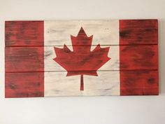 Canadian Flag on Reclaimed Barn Wood by MBalfourDesigns on Etsy Flag Painting, Painting On Wood, Rustic Wood Signs, Wooden Signs, Candian Flag, Canada Day Images, Carpentry Projects, Wood Projects, Pallet Picture Frames