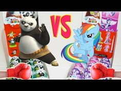 Epic battle Kinder Surprises between collections My Little Pony and Kung Fu Panda - YouTube