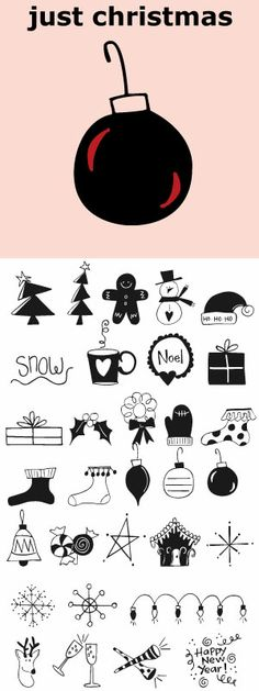 30 Christmas icons and some New Year's graphics too!