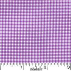 Tiny Gingham in Purple by Michael Miller - you can NEVER have enough gingham!