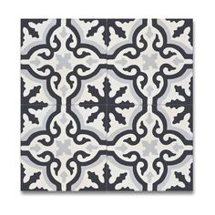 Argana Black and Grey Handmade Cement/ Granite 8-inch x 8-inch Floor and Wall Tile (Morocco) (Pack of 12)
