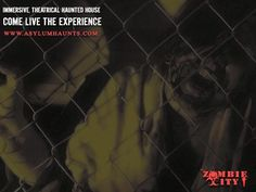 Visit Zombie City - An AWARD WINNING immersive theatrical haunted house where you become involved in the experience.  Don't miss your chance at the Asylum Haunted Scream Park this Halloween season.  Tickets available online at www.asylumhaunts.com or at our ticket window when you get here!  See you this weekend!