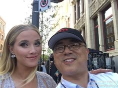 MMVA COHOST LIZ TRINNEAR selfie! TORONTO's biggest music event: MUCH MUSIC VIDEO AWARDS! MMVA! CO-host Tyrone Edwards and Liz Trinnear selfie:) back stage!多伦多最有影响力的音乐盛事:MMVA