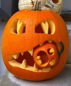 ☆ Cannibal Pumpkin Carving Art ☆