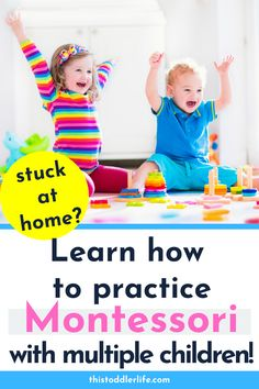 Here are 5 things we do to make Montessori work with our large family:MONTESSORI AT HOME WITH MULTIPLE CHILDREN #montessori #montessorifamily #family Montessori Toddler, Montessori Activities, Infant Activities, Toddler Preschool, Montessori Bedroom, Learning Games For Kids, Learning Through Play, Teaching Kids, Children Games
