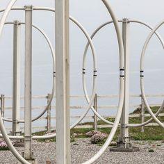 Penhale Sands Receiving Station HF loop antenna Cornwall. #ukcoastwalk Photo: Quintin Lake www.theperimeter.uk