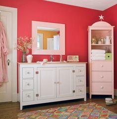 loving this color combo. bright orange pink + light pastel pink
