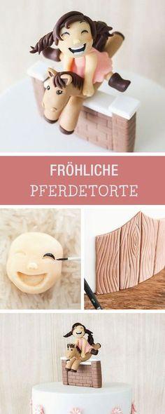 Rezept: Torte mit Pferdemotiv für Kindergeburtstag / baking recipe: birthfday layer cake for children with horse via DaWanda.com