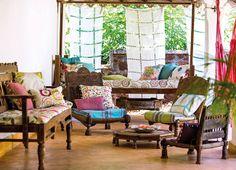 Harlequin - Jardin Boheme Voiles. Available at James Brindley, www.jamesbrindley.com.