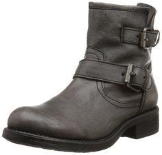 Steve Madden Women's Damiannn Boot, Grey Leather, 8 M US