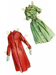Debby Dolls paper dolls 1959 - Pat clothes / Ebay