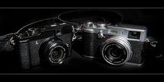 The Fuji Family by Mister Oy, via Flickr Fuji, Binoculars, Cameras, Camera, Film Camera