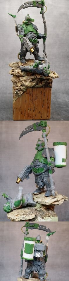 Nurgle Lord with Scythe (WIP). Tells a fantasticly strong story.