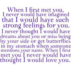 When I First Met You. #Love You #ff