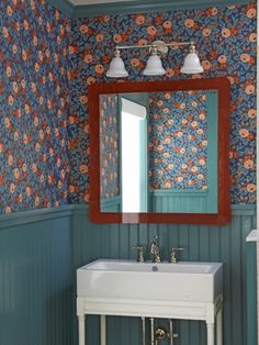 Deep Colors Work Best In Small Rooms Like This Downstairs Bathroom