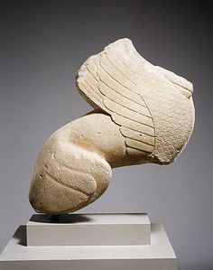 Limestone statue of a sphinx, Greek, ca. 550-525 B.C.