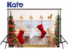 Kate Christmas Photography Backgrounds Christmas Trees Socks Photo Backdrops For Children Photo Studio Camera Fotografica Christmas Mini Sessions, Christmas Minis, Christmas Stockings, Christmas Trees, Background For Photography, Photography Backgrounds, Christmas Backdrops, Christmas Photography, Christmas Background