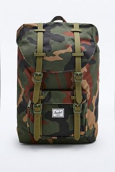 Herschel Supply co. Little America Backpack in Green Camo