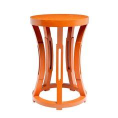 Orange Hourglass Side Table on Chairish.com