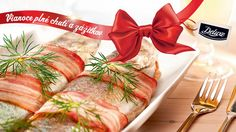 Pstruhy v slaninke Lidl, Fish And Seafood, Fresh Rolls, Ale, Main Dishes, Yummy Food, Delicious Recipes, Cooking, Ethnic Recipes