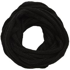 Vila London - Knitted Tube Scarf (1.550 RUB) ❤ liked on Polyvore featuring accessories, scarves, black, loop scarf, knit infinity scarves, knit infinity scarf, knit scarves and black circle scarf
