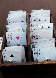 Jewelry on playing cards ...I like this idea - http://craftideas.bitchinrants.com/jewelry-on-playing-cards-i-like-this-idea/