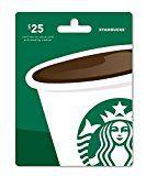 #8: Starbucks Gift Card $25