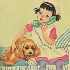 Illustration from Nancy Plays Nurse, a Rand McNally Elf book published in 1965.