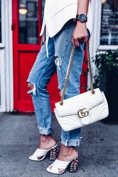 9a6cb3822f2 NYFW Day 2 - Soft Blazer   Gucci GG Marmont