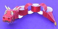 Chinese Dragon Paper Chain Craft - twinkl