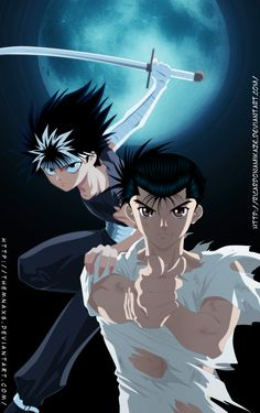 Yusuke and Hiei by themnaxs.deviantart.com on @deviantART