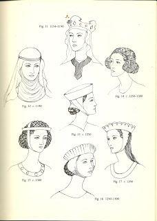 Prendas básicas del S. XIII: los tocados femeninos