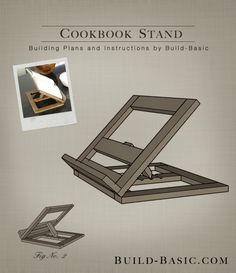 Build a Cookbook Stand - Building Plans by @BuildBasic www.build-basic.com
