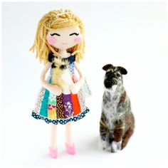 Finished today - custom art doll with two cute doggies. It will be a thoughtful Christmas present for Robin's daughter. Mini-me art dolls are always great gift idea. These cuties are on its way to New York. Thoughtful Christmas Presents, Valentine Day Gifts, Personalized Gifts For Her, Get Well Gifts, Couple Gifts, Custom Art, That Way, Kids Playing, Art Dolls
