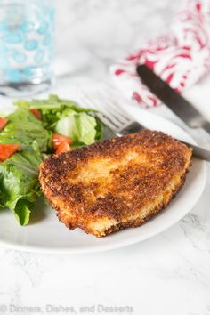 Crispy Pork Cutlet - tender boneless pork chops breaded and pan fried to crispy perfection. Served with a salad for a delicious meal any night of the week. Pork Cutlet Recipes, Pork And Beef Recipe, Cutlets Recipes, Pork Recipes, Pan Fried Pork Chops, Pork Cutlets, Boneless Pork Chops, Perfect Pork Chops, Crispy Pork
