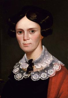 """""""Portrait of a Woman,"""" ca. 1825-1830, George Catlin, oil on canvas, 19 7/8 x 14 in. (50.5 x 35.6 cm.), Smithsonian American Art Museum, Gift of Mr. and Mrs. David C. Morse, 1984.139.1, Smithsonian American Art Museum, Luce Foundation Center, 3rd Floor, 4B"""