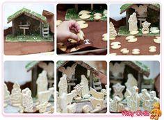 Belén de galletas decoradas con Glasa Real   Sucre Art