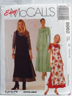McCall's 8962 Misses' Dress and Overdress