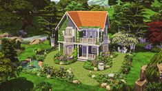 The Sims, Sims Cc, Sims Building, Sims Ideas, Sims 4 Build, Sims 4 Houses, Cottage Homes, Dolores Park, Video Games