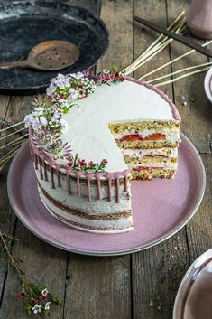Naked Cakes, Cake & Co, Vanilla Cake, Cooking Recipes, Sweets, Baking, Mai, Desserts, Sweet Dreams