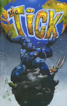 Simon Bisley, 2006 Cover art for The Tick Anniversary Special Edition Comic Book Artists, Comic Book Characters, Comic Artist, Comic Character, Comic Books Art, Simon Bisley, Cover Art, Retro, Comic Art Community