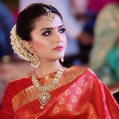 Image may contain: 1 person, closeup Saree Wedding, Bouquet Wedding, Wedding Nails, Kate Winslate, Engagement Celebration, Saree Look, Bride Look, Wedding Lingerie, Indian Celebrities