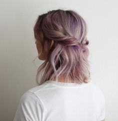 These 3 Cute Flat Twist Hairstyles Take Winning Prize – For Being Some Of The Best Back To School Styles Ever, Frisuren, Washed out purple hair colour with a twist. Pelo Multicolor, Twist Hairstyles, Simple Hairstyles, Black Hairstyles, Summer Hairstyles, Hairstyles 2016, Medium Hairstyles, Latest Hairstyles, Wedding Hairstyles