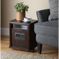 Comfort Zone® Quartz Wood Cabinet Heater with remote control ...