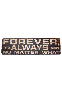 "Wood Sign - ""Forever & Always"" on HauteLook"