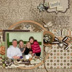 Family Time using Shabby Miss Jenn's new Modern Family kit