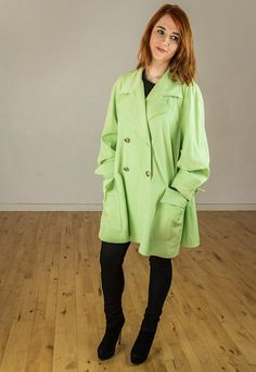 Vintage 80s 90s Lime Green Paul Costello by FlorrieJanesVintage