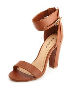 Ankle-Cuff Thick Heel Pump
