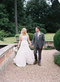 We're swooning over this English country manor wedding, featuring a stunning Maggie Sottero wedding dress... See more now!