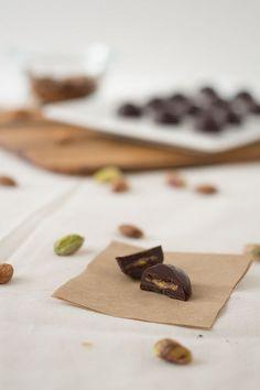 Almond Pistachio Chocolates (Paleo, Grain free, Gluten free)